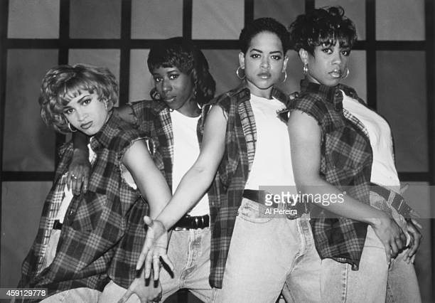 B group Xscape poses for a portrait circa 1995 in New York City New York