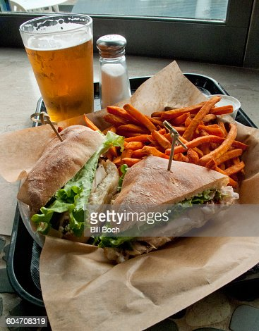 Grouper sandwich-sweet potato fries