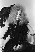 Groupie Harlow wears a 1920s inspired outfit Belvedere Street Studio San Francisco CA November 1969