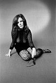 Groupie Kyle wears a lace dress 1969
