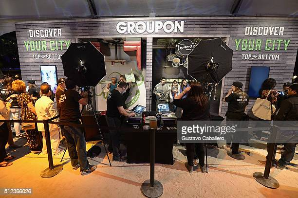Groupon display at MasterCard Preview Barilla's Italian Bites On Yhe Beach during 2016 Food Network Cooking Channel South Beach Wine Food Festival...