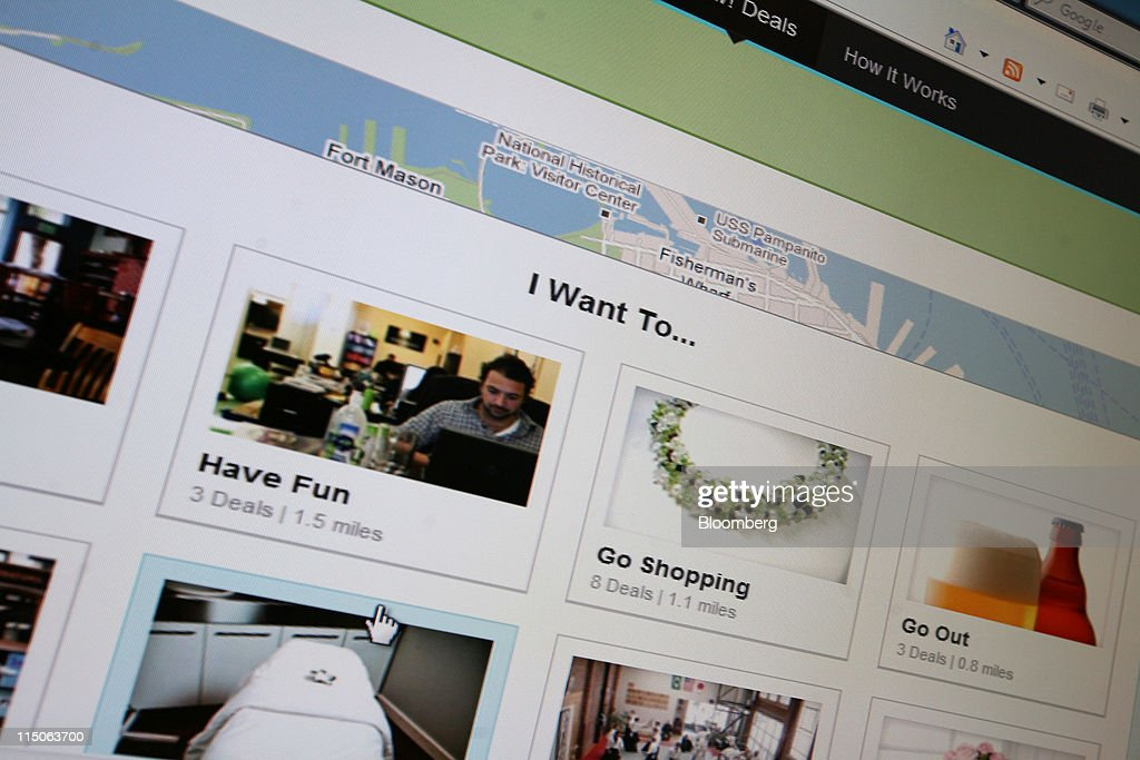 Groupon Inc.'s homepage is displayed on a monitor in New York, U.S., on Thursday, June 2, 2011. Groupon Inc., the largest provider of online coupons, filed to raise $750 million in an initial public offering, giving shareholders a chance to bet on the burgeoning daily-deal market. Photographer: Joseph Valenti/Bloomberg via Getty Images