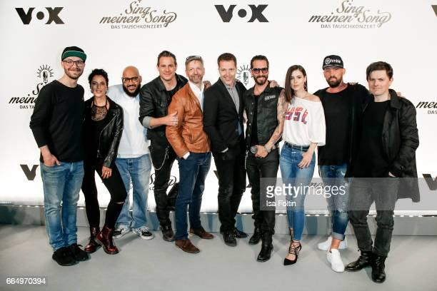 Groupshoot with german singer Mark Forster german Rapper and music producer Moses Pelham Stefanie Kloss singer of the band 'Silbermond' VOX chief...