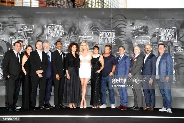 Groupshot at the 'Atomic Blonde' world premiere at Stage Theater on July 17 2017 in Berlin Germany