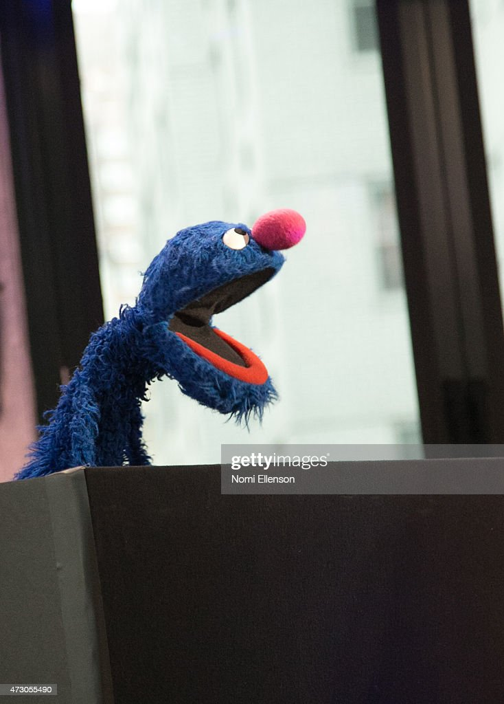 Sesame Street's Grover And The USO - Dr. Jeanette Betancourt And Rachel Tischlerat AOL Studios In New York on May 12, 2015 in New York City.