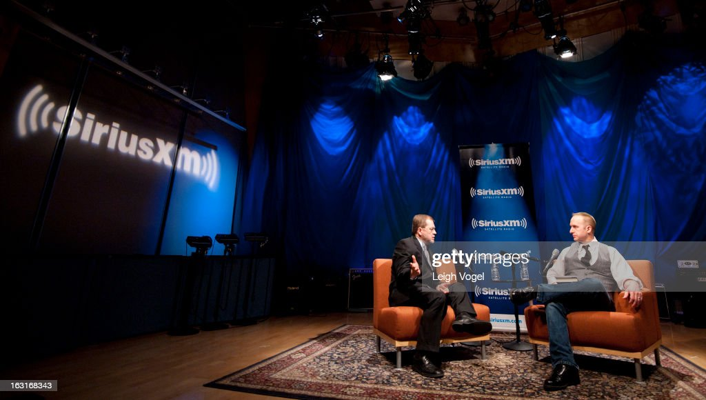 Grover Norquist President Americans for Tax Reform is interviewed by SiriusXM Patriot host Andrew Wilkow at SiriusXM Studio on March 5 2013 in...