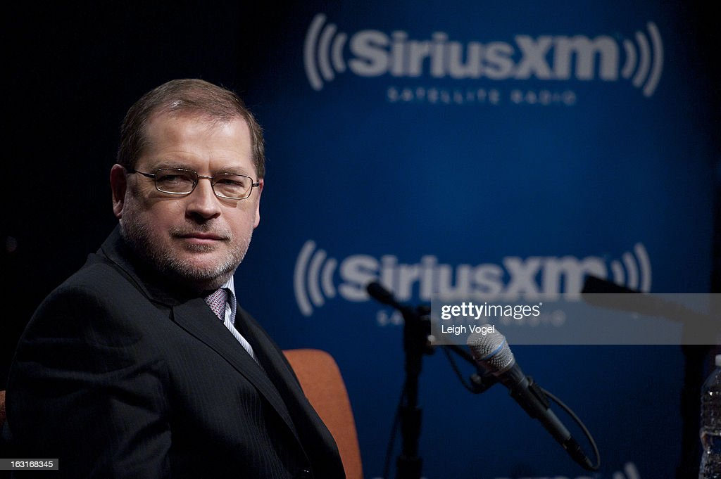 Grover Norquist, President, Americans for Tax Reform, visits 'SiriusXM Patriot Forum with Grover Norquist' at SiriusXM Studio on March 5, 2013 in Washington, DC.