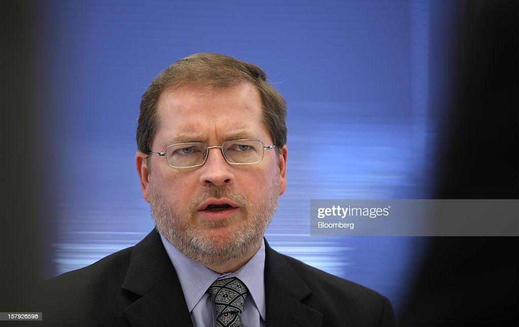 <a gi-track='captionPersonalityLinkClicked' href=/galleries/search?phrase=Grover+Norquist&family=editorial&specificpeople=779501 ng-click='$event.stopPropagation()'>Grover Norquist</a>, president of Americans for Tax Reform, speaks during an interview in Washington, D.C., U.S., on Wednesday, Dec. 5, 2012. The vote President Barack Obama wants this month to extend middle-class tax cuts may violate Republican lawmakers' pledge against tax increases by allowing top earners' tax rates to rise, said Norquist. Photographer: Rich Clement/Bloomberg via Getty Images