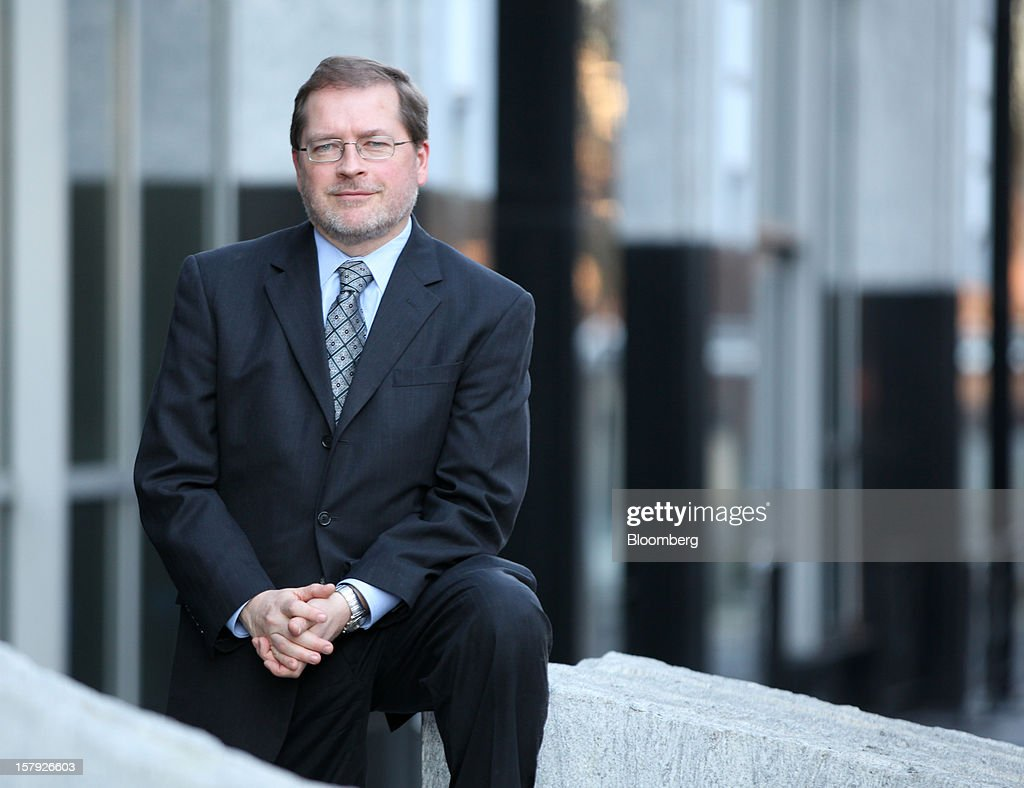 <a gi-track='captionPersonalityLinkClicked' href=/galleries/search?phrase=Grover+Norquist&family=editorial&specificpeople=779501 ng-click='$event.stopPropagation()'>Grover Norquist</a>, president of Americans for Tax Reform, stands for a photograph after an interview in Washington, D.C., U.S., on Wednesday, Dec. 5, 2012. The vote President Barack Obama wants this month to extend middle-class tax cuts may violate Republican lawmakers' pledge against tax increases by allowing top earners' tax rates to rise, said Norquist. Photographer: Rich Clement/Bloomberg via Getty Images