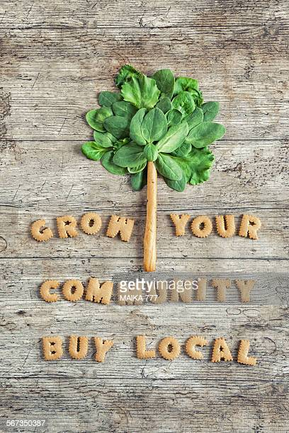 Grow your community-Buy local,spelled with cookies
