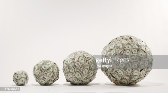 Growing balls of money