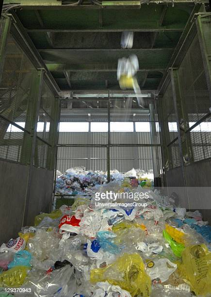 Growing pile of separated plastic bags