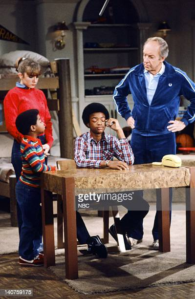 RENT STROKES 'Growning Up' Episode 1 Pictured Gary Coleman as Arnold Jackson Dana Plato as Kimberly Drummond Todd Bridges as Willis Jackson Conrad...