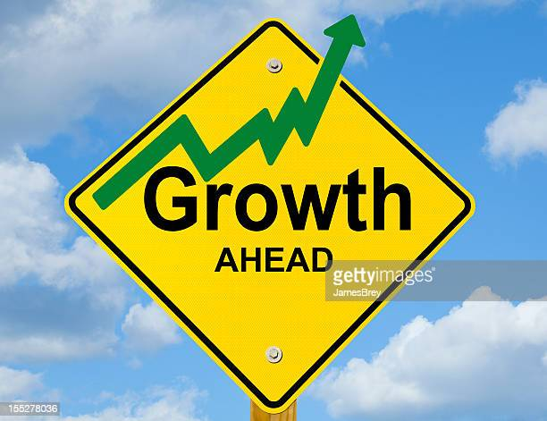 Growth Ahead Road Sign