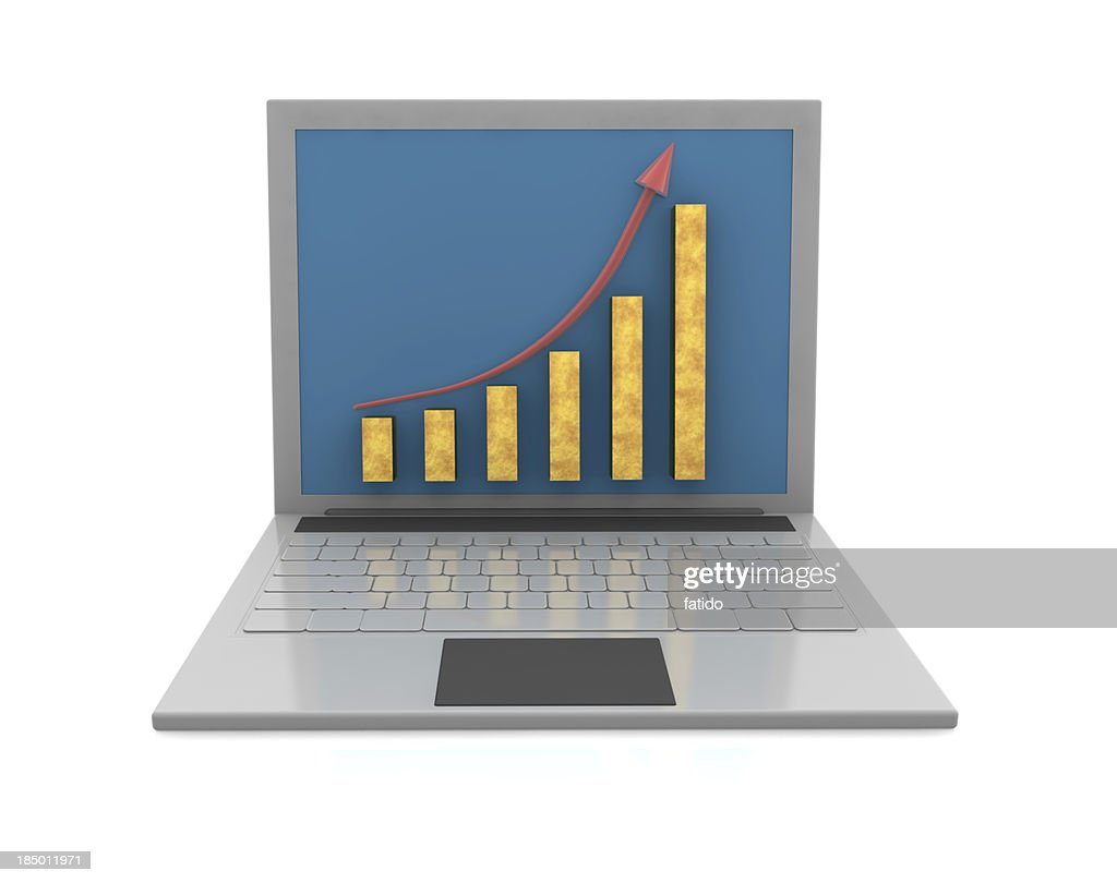 Growth Chart and Laptop