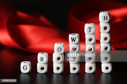 growth tax text : Stock Photo