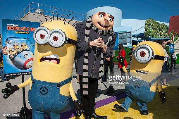 Gru and his Minion attends Universal Studios Hollywood Celebrates The Premiere Of New 3D Ultra HD digital Animation Adventure 'Despicable Me Minion...