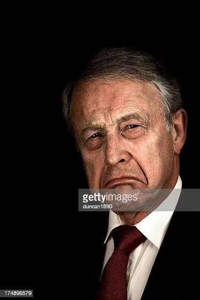 Grumpy Geschäftsmann