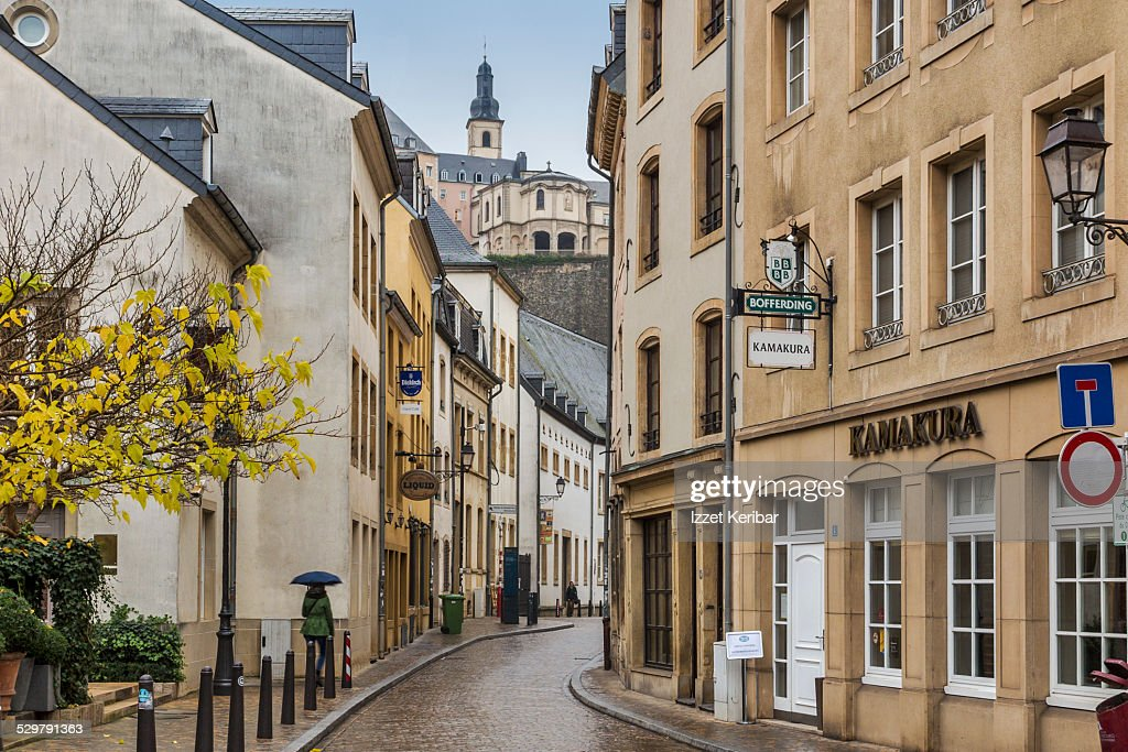Grund houses in the old town of Luxembourg city