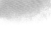 Grunge Black and White Distress. Dot Texture Background. Halftone Dotted Grunge Texture.