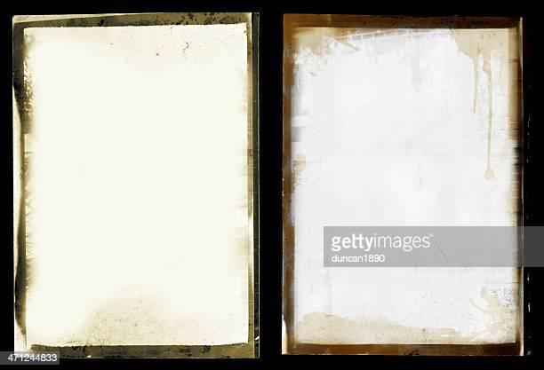 Grunge black border photo set