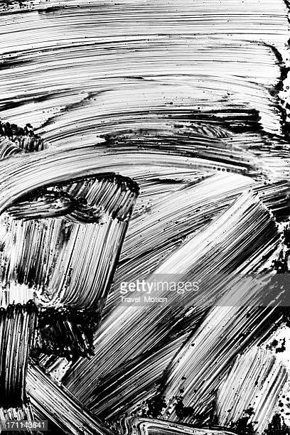Grunge black paint brush stroke background