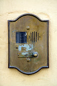 grunge doorbell in tuscany