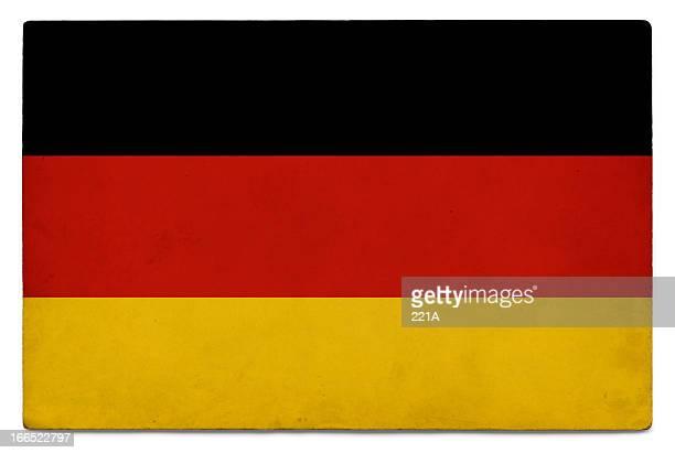 Grunge Flagge der Deutschland auf Weiß
