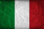Grunge flag of Italy background
