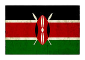 Grunge flag of Kenya background isolated