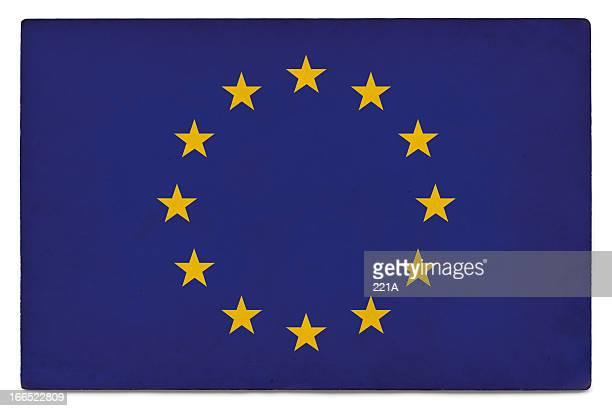 Grunge Flagge der Europäischen Union auf Weiß
