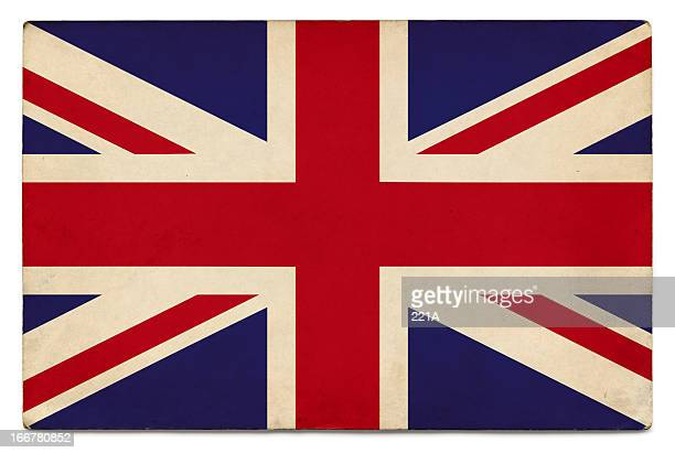 Grunge flag of UK on white