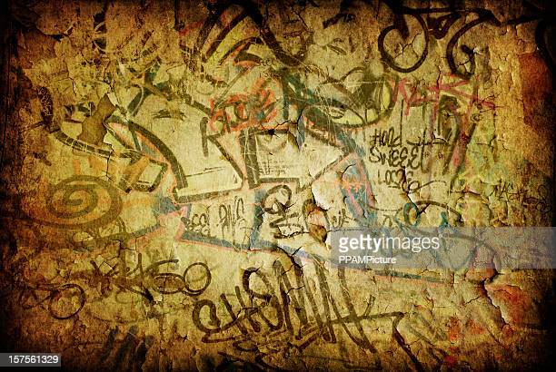 Grunge graffiti wall