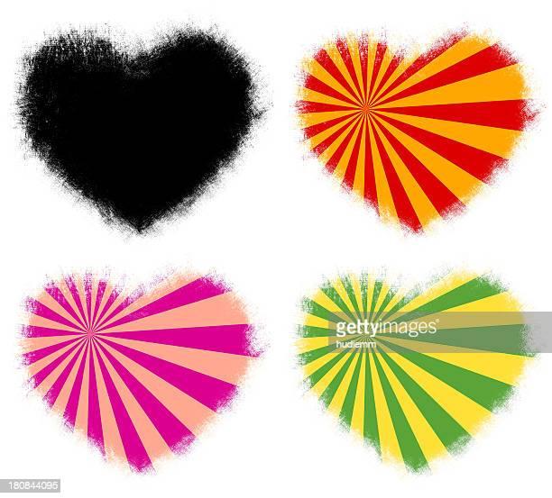 Grunge cadre en forme de cœur