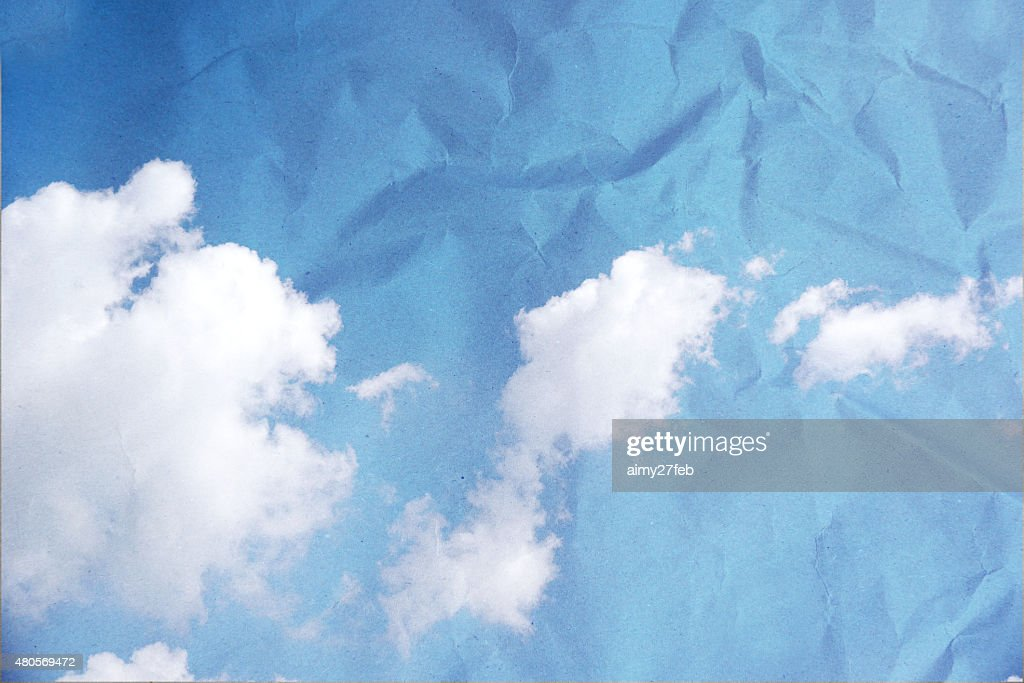 Grunge image of blue sky. : Stock Photo