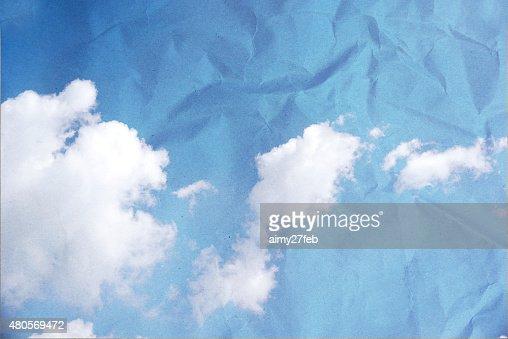 Grunge image of blue sky. : Stock Photo