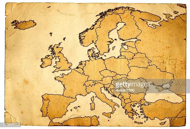 Grunge carte de l'Europe