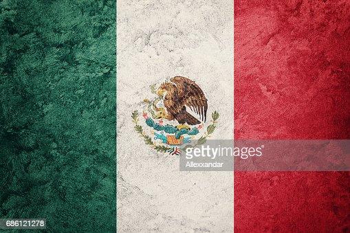 Drapeau De Grunge De Mexico Drapeau Mexicain Avec Texture Grunge