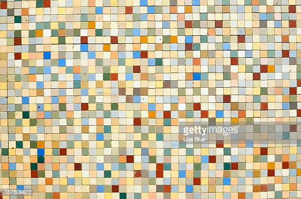Grunge Multicolored Mosaic Wall Texture Background Pattern