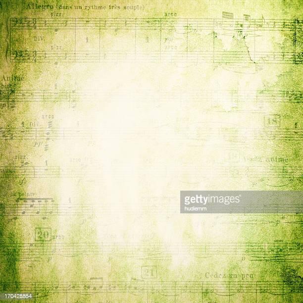 Page Note de musique Grunge texture d'arrière-plan