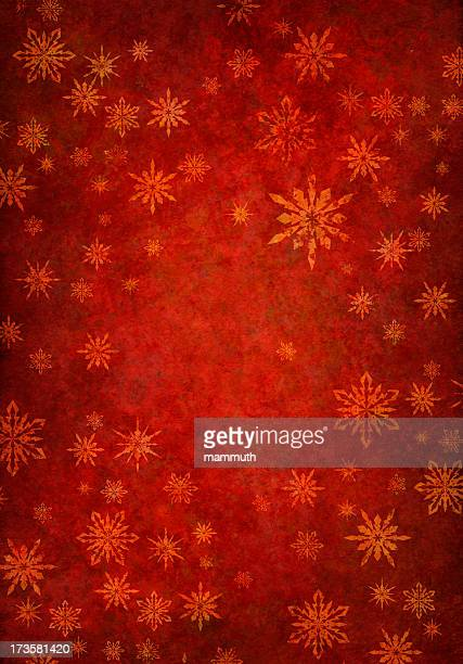 grunge red snowy background