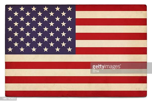 Grunge uns Flagge auf Weiß