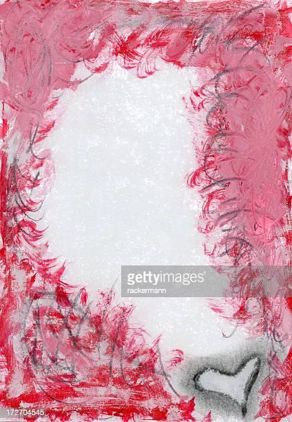 XXXL grunge valentine frame