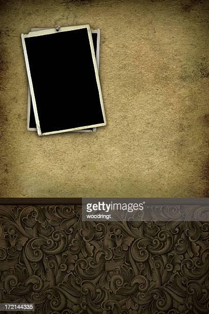 Papel de Parede do Grunge com molduras de fotografia
