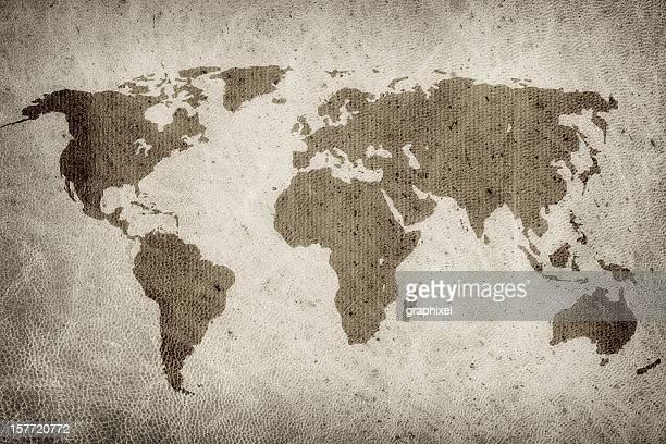 Grunge Welt Karte
