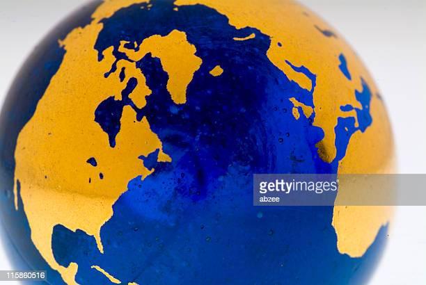 Grungey Globe Detail, Northern Hemisphere