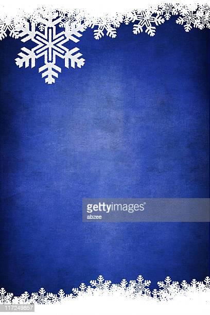 Grungey Snowflake Winter Background Series