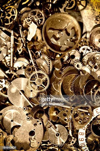 Grungy Antique Clock mechanism