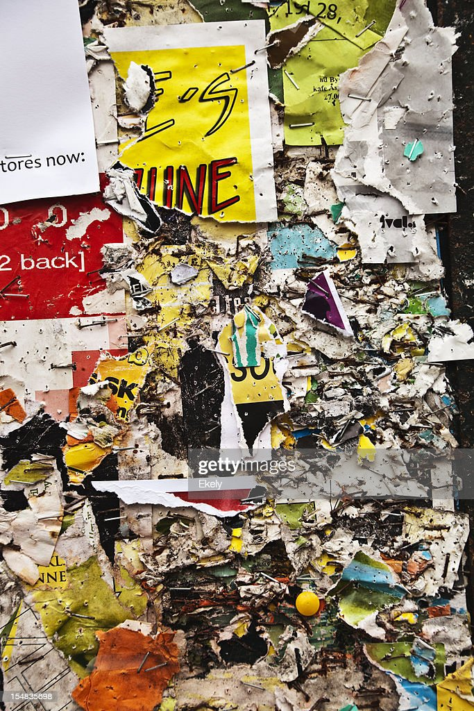 Grungy billboard collage. : Stock Photo