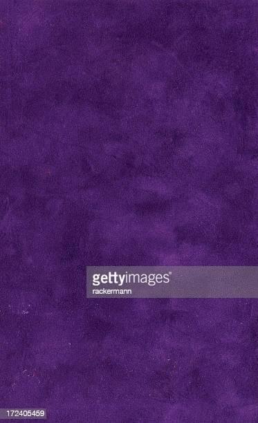 Grunge bookcover XL velours violet foncé